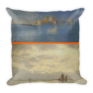 Blue Morning in Venice Premium Pillow