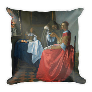 The Girl With The Pearl Earring Premium Pillow