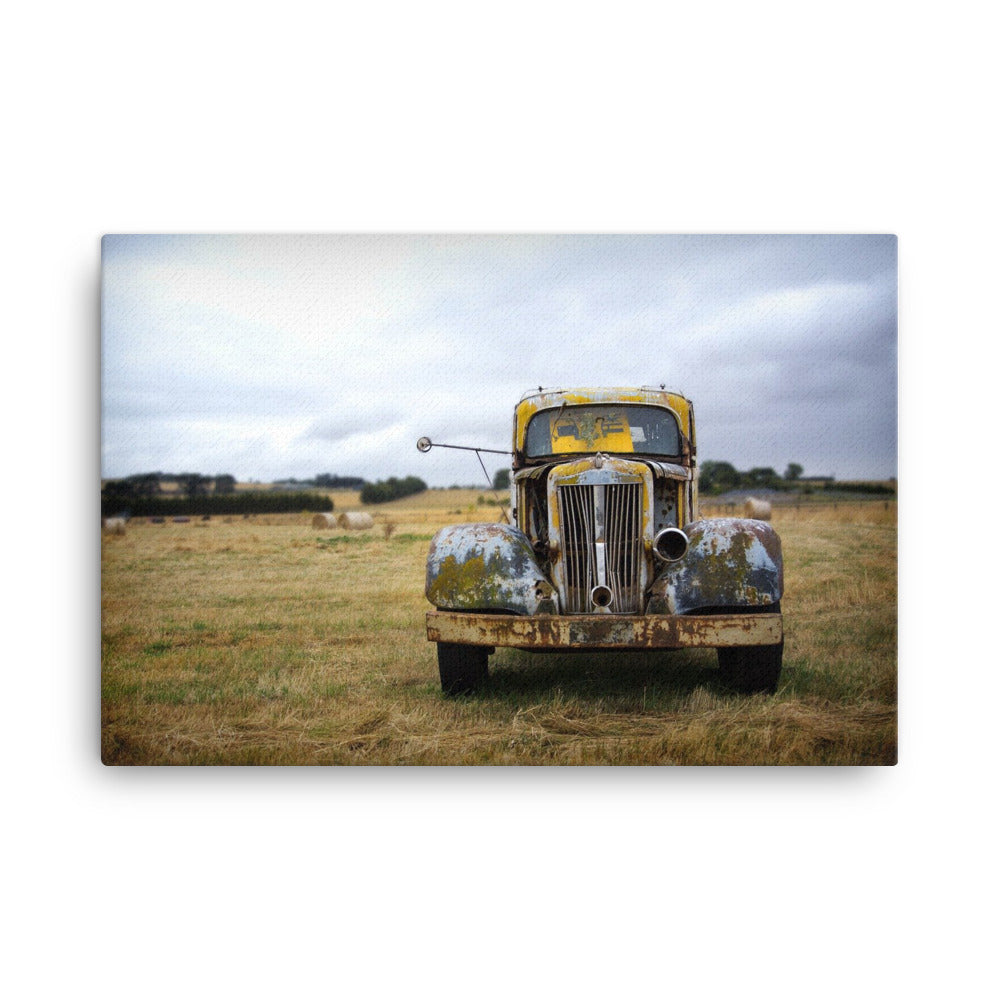 Ravaged Yellow Canvas Print
