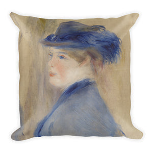 A Woman Nursing a Child Premium Pillow
