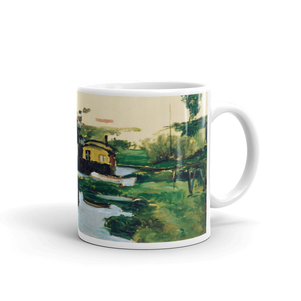 Cezanne - Boathouse on a River Classic Art Mug