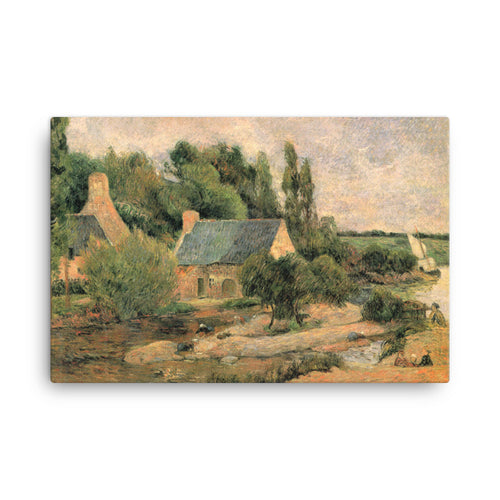 Washerwomen at Pont-Aven Classic Art Canvas