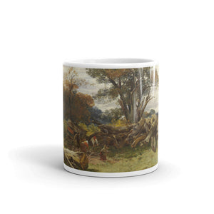 Samuel Bough - Woodcutters, Cadzow Forest Classic Art Mug