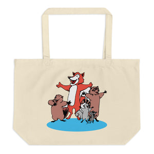 Country Versus Intellectual Animals Large Organic Tote Bag