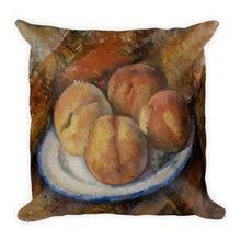 Peaches on a Plate Premium Pillow