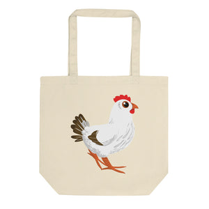 Rooster and Hen Eco Tote Bag
