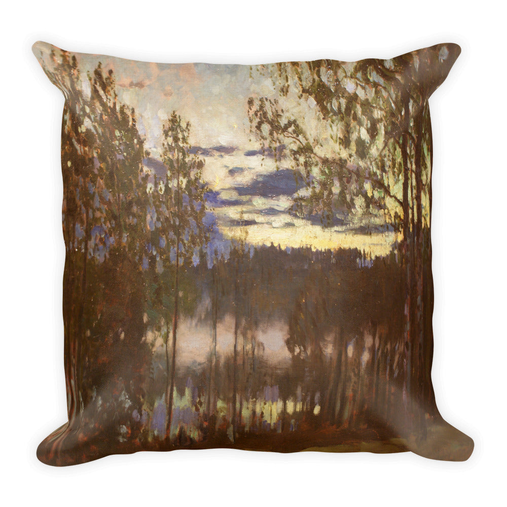 Summer evening on lake Premium Pillow