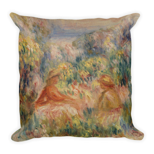 Two Women in a Landscape Premium Pillow