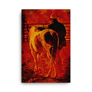 Rowdy Teenagers Horse Art Canvas