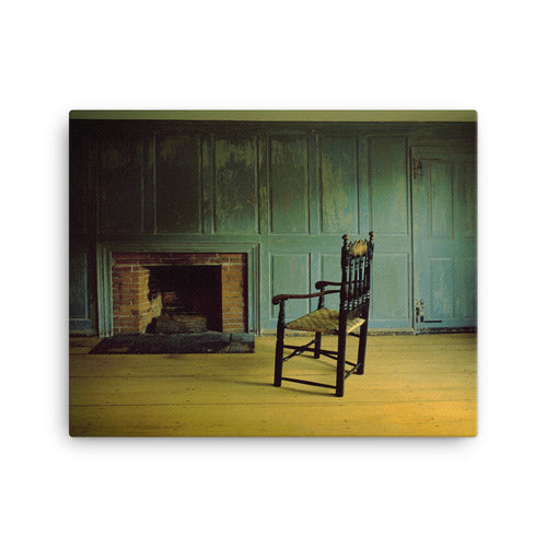 Silent Tavern Chair Canvas Print
