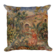 Landscape with Woman and Dog Premium Pillow