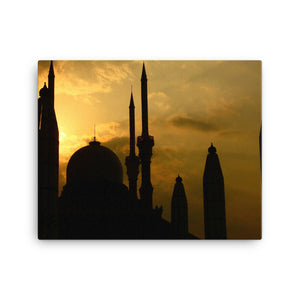 Evening Minarets Digital Art Canvas