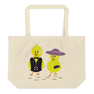 Chicken Elegance Large Organic Tote Bag