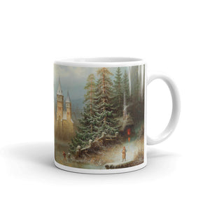 Albert Bredow - Romantic Winter Landscape with Ice Skaters by a Castle Classic Art Mug