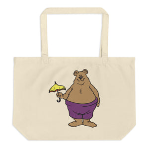 Bears Are Funny Large Organic Tote Bag