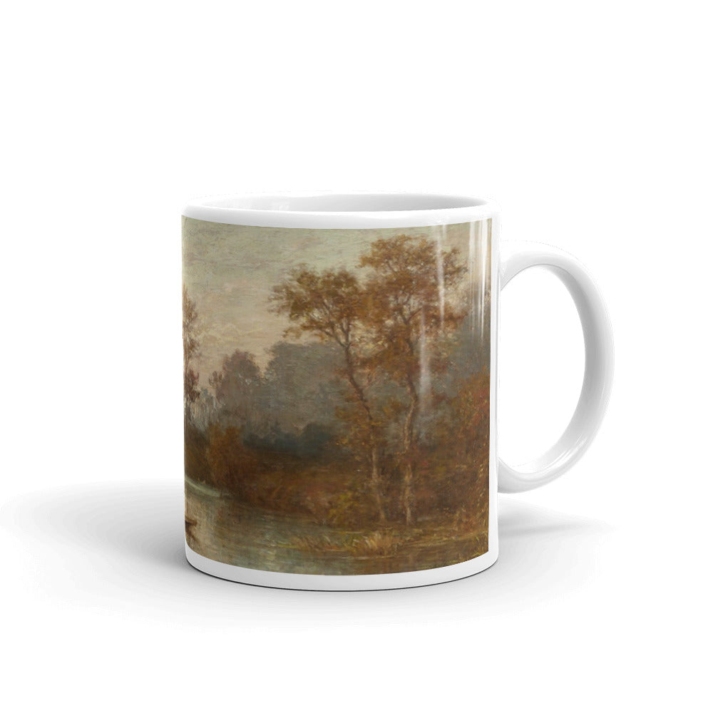 Karl Peter Burnitz - Flusslandschaft mit Kahn Classic Art Mug