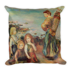 Girls Fishing Mussels Premium Pillow