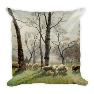 Washerwomen by the River Basic Pillow