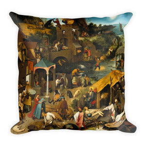 The Tower of Babel (Rotterdam) Premium Pillow