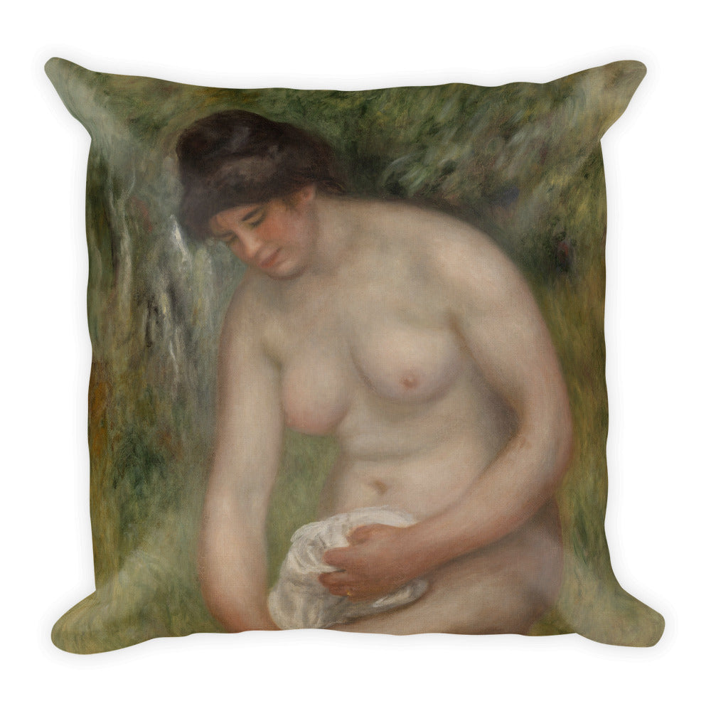 Bather Drying Herself Premium Pillow