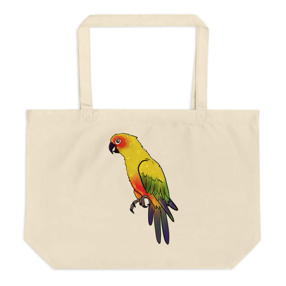 Parrot Noblesse Large Organic Tote Bag