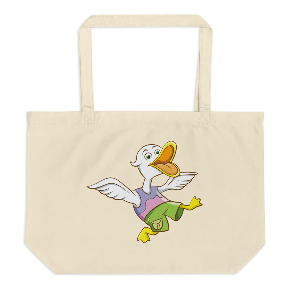 Duck And Crocodile Large Organic Tote Bag