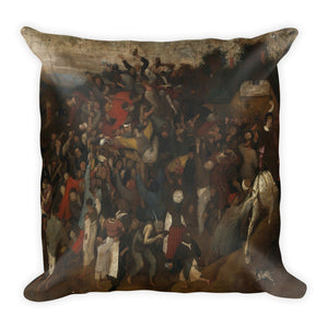 Hunters in the Snow (Winter) Premium Pillow