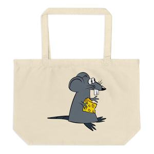 Fancy Cat And Miserable Mouse Large Organic Tote Bag