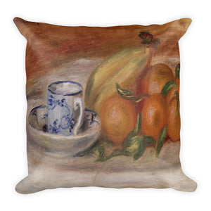 Oranges, Bananas, and Teacup Premium Pillow