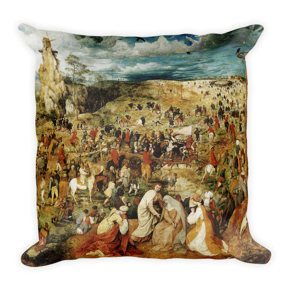 The Procession to Calvary Premium Pillow