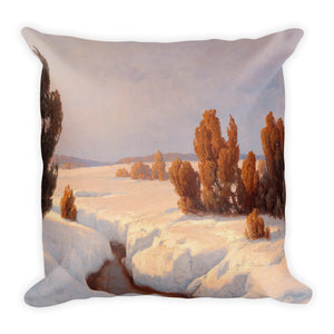 Winter Landscape Premium Pillow