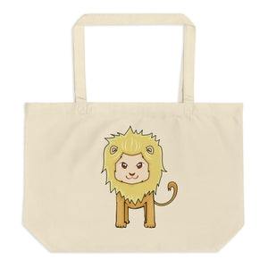 Hairy Lions Large Organic Tote Bag