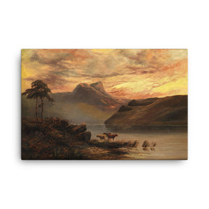 Mountain lake landscape Classic Art Canvas