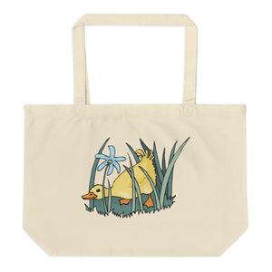 Ducky Duck Large Organic Tote Bag