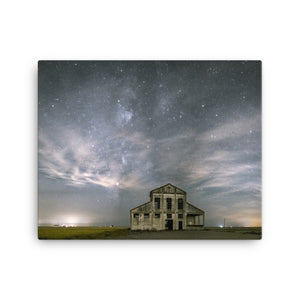 Night Sky Monastery Canvas Print