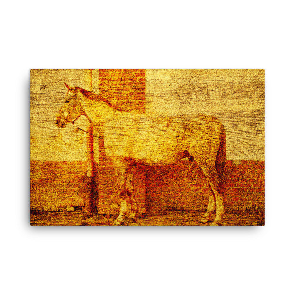 Panic Recipe Horse Art Canvas