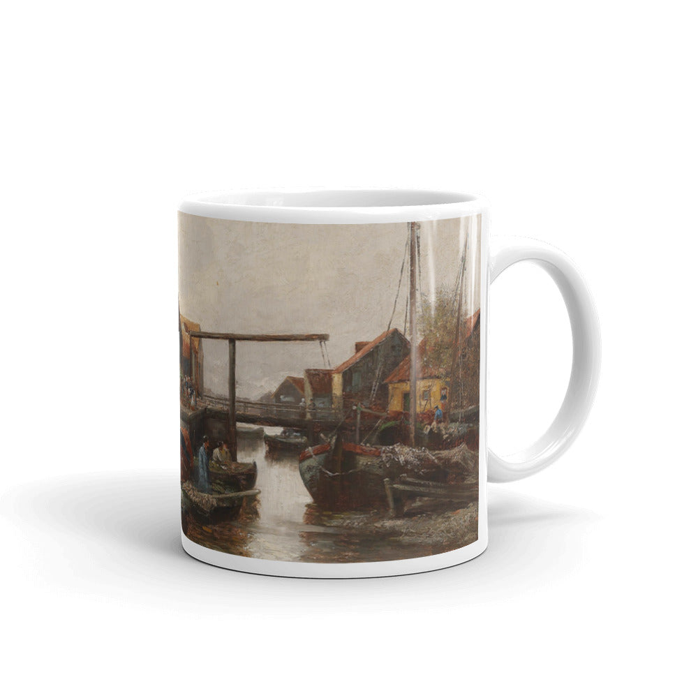 Adolf Kaufmann - In the Harbour Classic Art Mug