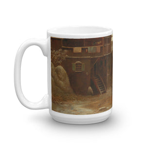 Anton Doll - Winter Amusements with a Town in the background Classic Art Mug