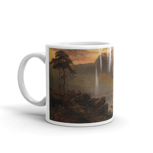 Alfred de Bréanski - Mountain lake landscape in evening mood Classic Art Mug
