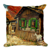 Pen House with a Goat Premium Pillow