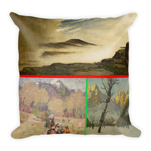 Drama on the mountain top Premium Pillow