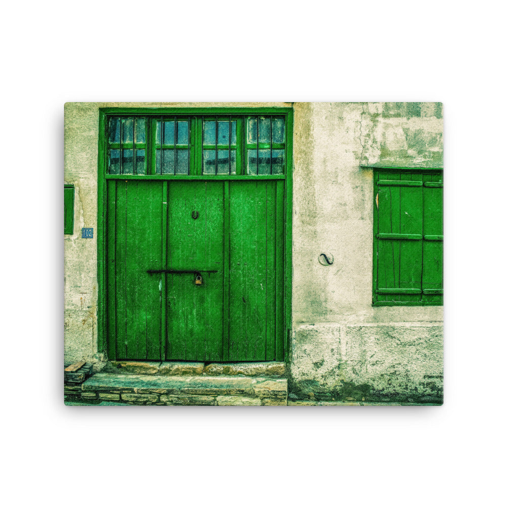 Green Door Sanitarium Canvas Print