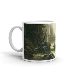 Albert Rieger - Crossing in a Moonlit Night Classic Art Mug