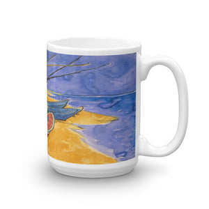 Vincent Van Gogh - Fishing Boats on the Beach Classic Art Mug