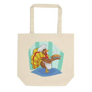 Rooster And Turkey Eco Tote Bag