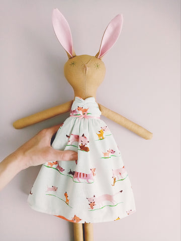 Sophie, Handmade Rabbit Doll