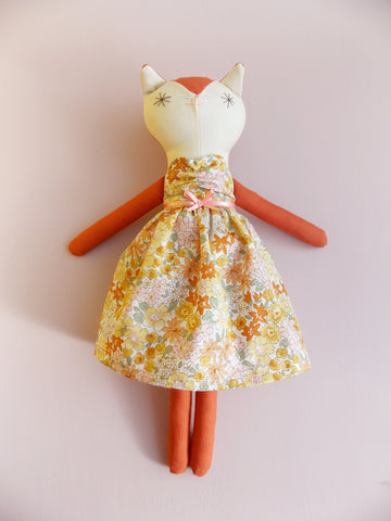Matilda, Handmade Mini Fox Doll