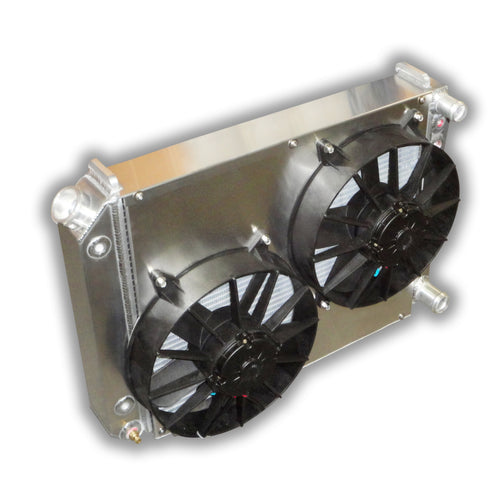 chevy nova radiator electric fans aluminum