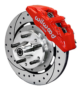 "Wilwood 6 Pistion Caliper 12"" Rotor Black/Red"