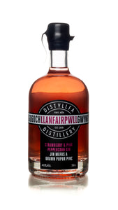 Llanfair PGin - Strawberry & Pink Peppercorn - 50cl  Craft Anglesey Gin